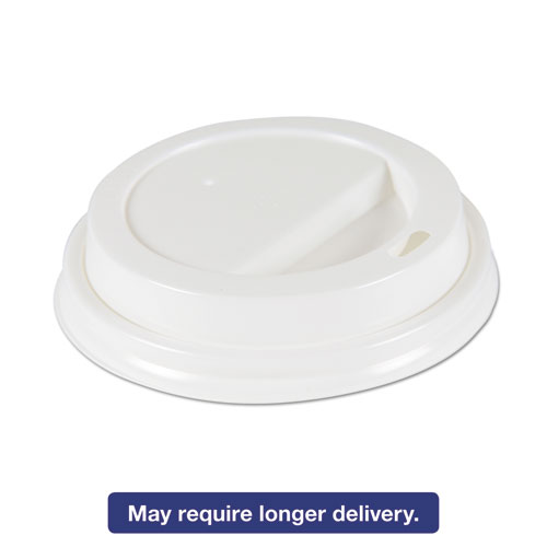 Hot Cup Lids for 10oz-16oz Cups, White, Plastic, 1000/Ct DEERHLIDWCP