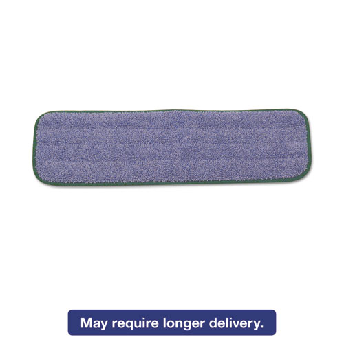 Microfiber Wet Mopping Pad, 18 1/2in. x 5 1/2in. x 1/2in., Green Q410GRE