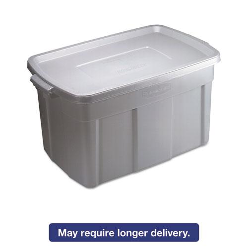 Rubbermaid® Roughneck Storage Box, 31 gal, Steel Gray, 9/Carton