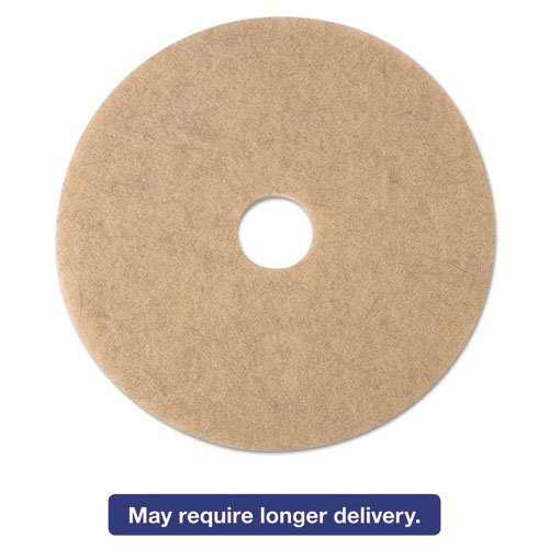 Ultra High-Speed Natural Blend Floor Burnishing Pads 3500, 21in. Dia., Tan, 5/CT 19009