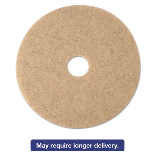 Ultra High-Speed Natural Blend Floor Burnishing Pads 3500, 24in. Dia., Tan, 5/CT 19012