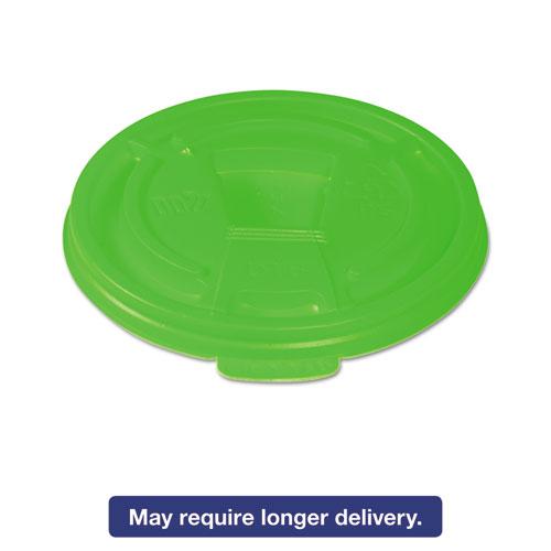 Vio Biodegradable Lids f/8 oz Cups, Green, 1000/Carton DT8VIO