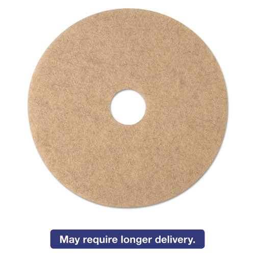 Ultra High-Speed Natural Blend Floor Burnishing Pads 3500, 20in. Dia., Tan, 5/CT 19008