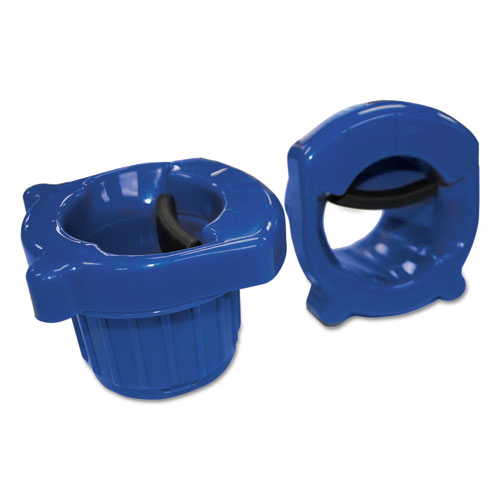 Hand Core Dispenser for Stretch Film Rolls 12 to 18 Wide, Blue