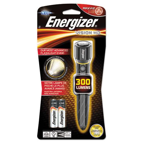 Metal LED Flashlight, 2 AA, Chrome