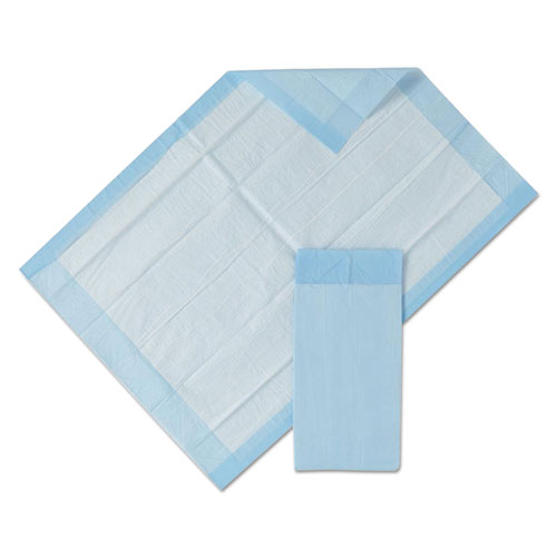 "Medline Protection Plus Disposable Underpads, 17"" x 24"", Blue, 25/Bag"