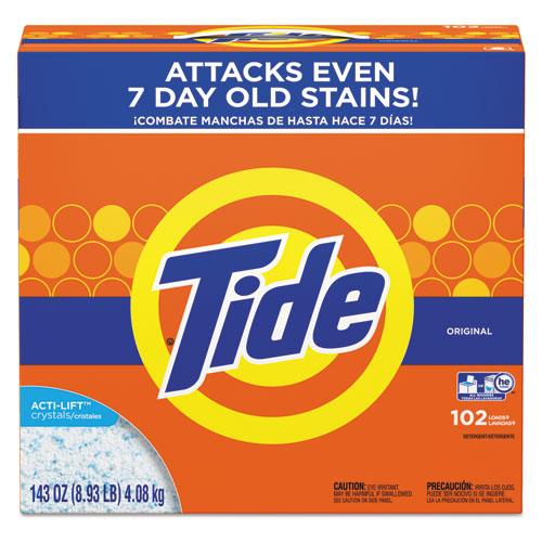 Tide® Powder Laundry Detergent, Original Scent, 143 oz Box, 2/Carton