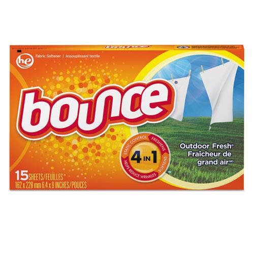 Bounce® Fabric Softener Sheets, Outdoor Fresh, 15/Box, 15 Box/Carton