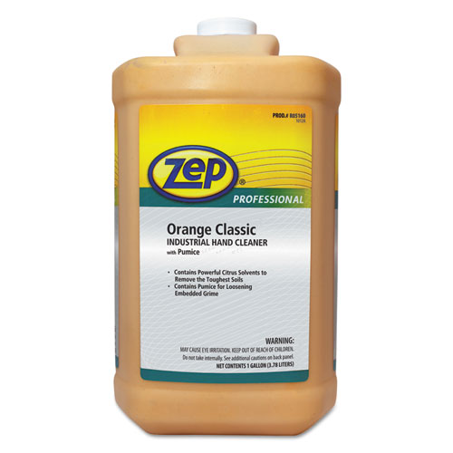 Industrial Hand Cleaner, Orange, 1 gal Bottle, 4/Carton