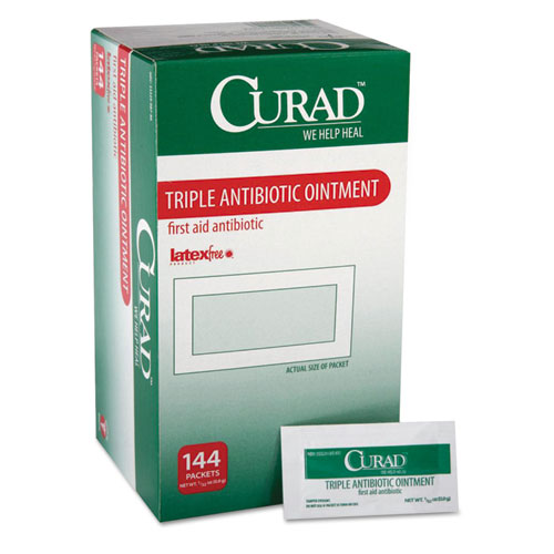 Triple Antibiotic Ointment, 0.9 g Foil Packet, 144/Box