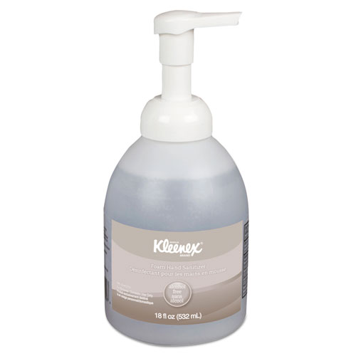 Kleenex® Alcohol-Free Foam Hand Sanitizer, 18 oz Pump Bottle, 4/Carton