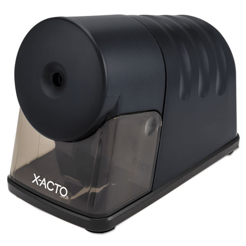 Powerhouse Office Electric Pencil Sharpener, AC-Powered, 3 x 6.25 x 4.5, Black