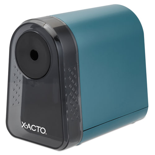 Mighty Mite Home Office Electric Pencil Sharpener, AC-Powered, 3.5 x 5 x 3.5, Mineral Green