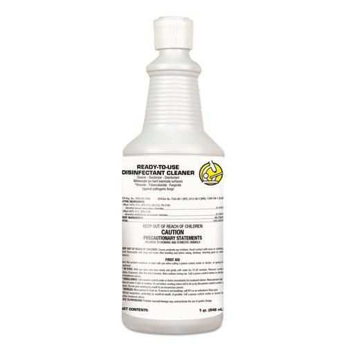 Diversey™ USC RTU Disinfectant Cleaner, Floral Citrus Scent, 1 qt Flip-Top Bottle, 12/Ctn