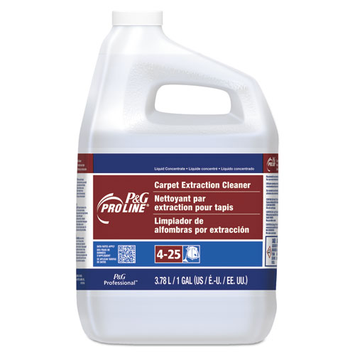 25 Carpet Extraction Cleaner, Peach Scent, 1 Gallon Bottle, 4/Carton