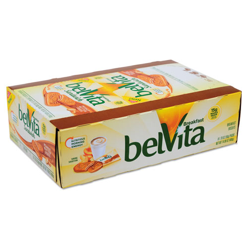 Nabisco® belVita Breakfast Biscuits, Peanut Butter Sandwich, 1.76 oz Pack, 8/Box