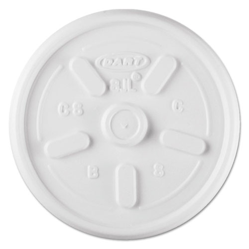Plastic Lids, for 8oz Hot/Cold Foam Cups, Vented, 1000 Lids/Carton 8JL