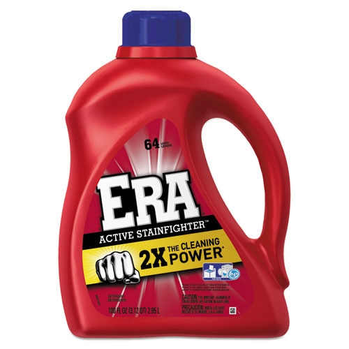 Era® Active Stainfighter Liquid Laundry Detergent, Original, 100oz Bottle, 4/Carton