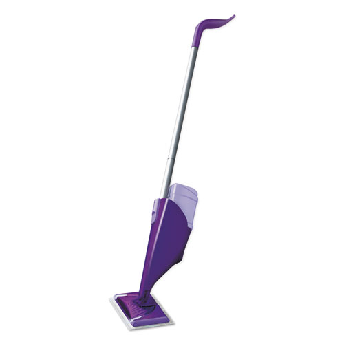 "Swiffer® WetJet Mop Starter Kit, 46"" Handle, Silver/Purple, 2/Carton"