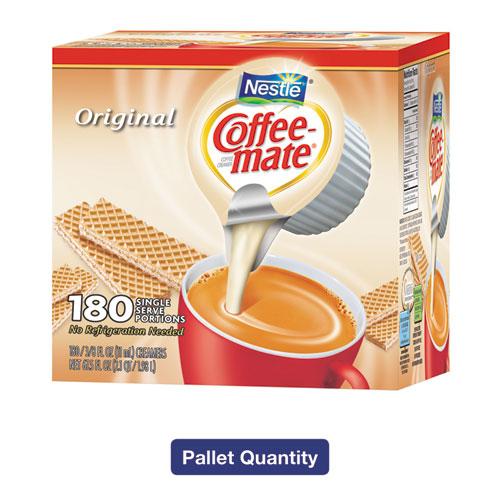 Liquid Coffee Creamer, Original, 0.38 oz Mini Cups, 180/Box, 4 Boxes/Carton, 150 Cartons/Pallet, 108,000 Total/Pallet