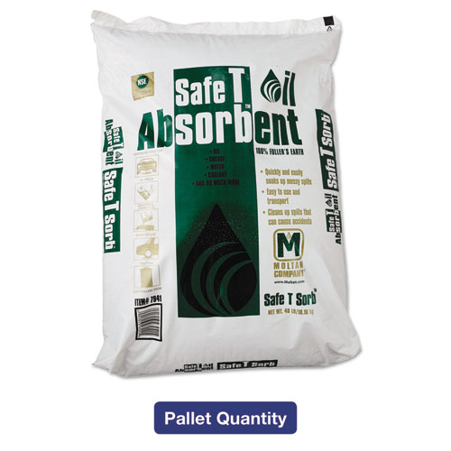 All-Purpose Clay Absorbent, 40lb, Poly-Bag, 50/Pallet