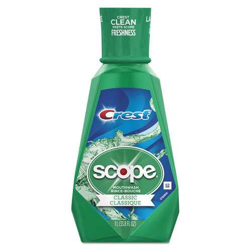Scope Mouth Rinse, Classic Mint, 1 L Bottle