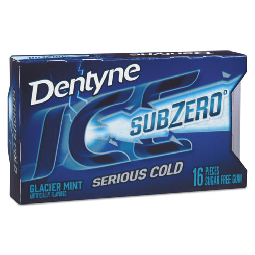 Sugarless Gum, Glacier Mint, 16 Pieces/Pack, 9 Packs/Box