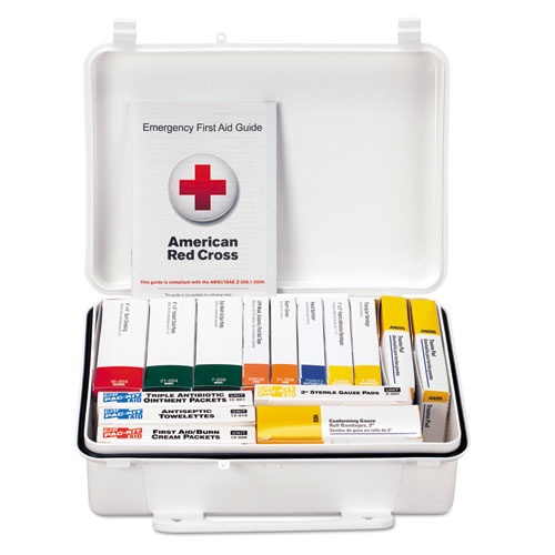 Unitized ANSI Class A Weatherproof First Aid Kit for 25 People, 16 Units 90569