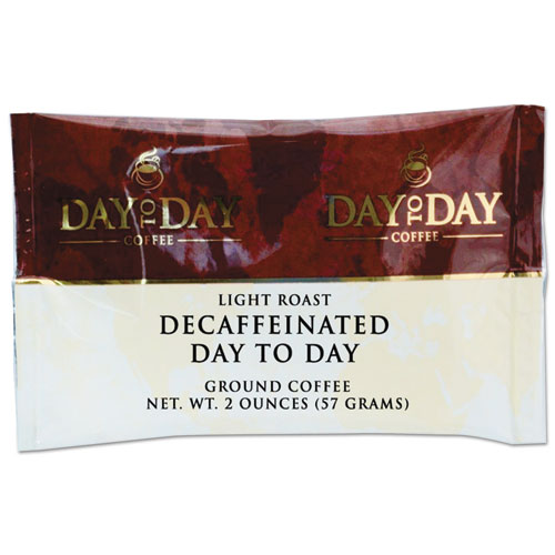 Day to Day Coffee® 100% Pure Coffee, Decaffeinated, 2 oz Pack, 42/Carton