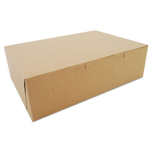 Bakery Boxes, Kraft, Paperboard, 14 x 10 x 4, 100/Bundle