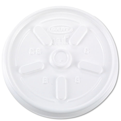 Vented Plastic Hot Cup Lids, 10JL, 10 oz., White, 1000/Carton | by Plexsupply