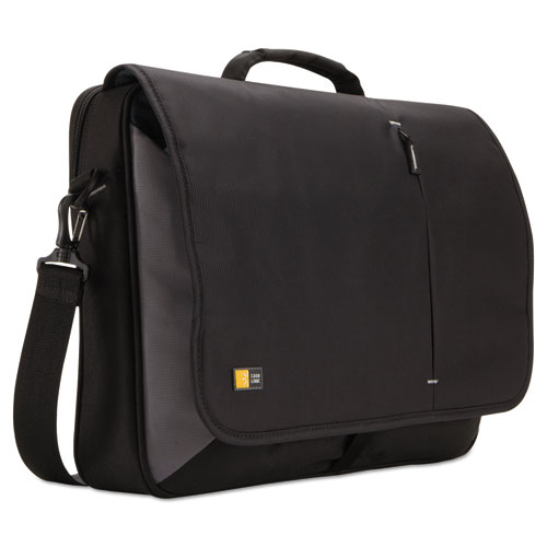 "17"" Laptop Messenger, 3 3/8 x 17 3/4 x 13 3/4, Black VNM217BLACK"