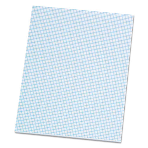 Quadrille Pads, 8 sq/in Quadrille Rule, 8.5 x 11, White, 50 Sheets | by Plexsupply