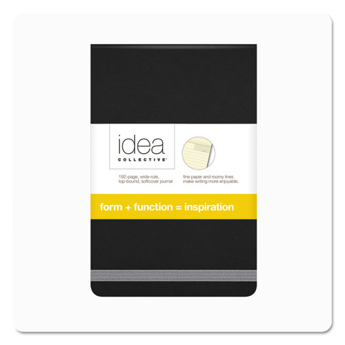 Idea Collective Journal, Wide/Legal Rule, Black Cover, 3.5 x 5.5, 96 Sheets
