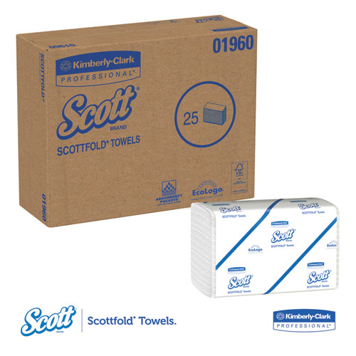 Scott Lint Free Paper Towels: KCC01960 Scott SCOTTFOLD Paper Towels