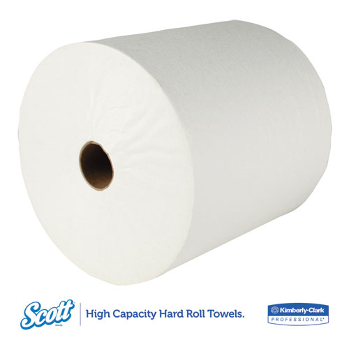 Essential High Capacity Hard Roll Towel, 1.5 Core 8 x 1000ft, White,12 Rolls/CT