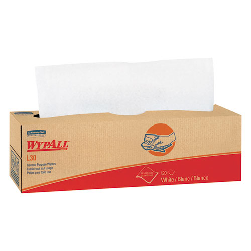 WypAll® L30 Towels, POP-UP Box, 9 4/5 x 16 2/5, 100/Box, 8 Boxes/Carton