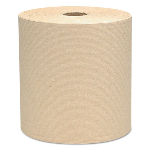 "Essential Hard Roll Towels, 1.5"" Core, 8 x 800ft, Natural, 12 Rolls/Carton 