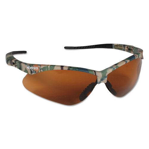 Jackson Safety* Nemesis Safety Glasses, Camo Frame, Bronze Lens