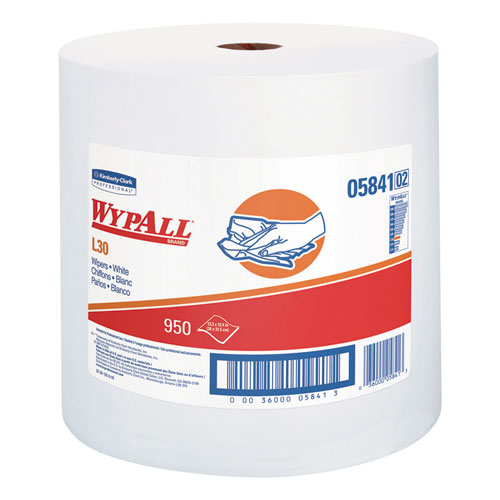 L30 Towels, 12 2/5 x 13 3/10, White, 950 per Roll | by Plexsupply