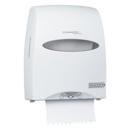 Sanitouch Hard Roll Towel Dispenser, 12 63/100w x 10 1/5d x 16 13/100h, White | by Plexsupply