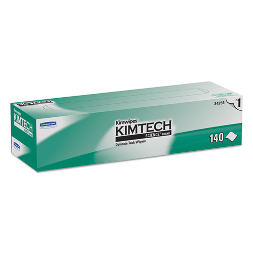 Kimwipes Delicate Task Wipers, 1-Ply, 14 7/10 x 16 3/5, 140/Box, 15 Boxes/Carton