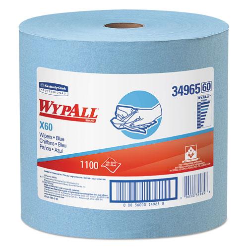 X60 Cloths, Jumbo Roll, 12 1/2 x 13 2/5, Blue, 1100/Roll
