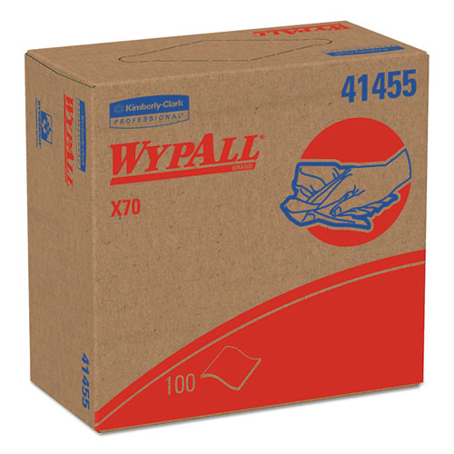 X70 Cloths, Pop-Up Box, 9 1/10 X 16 4/5, White, 100/box, 10 Boxes/carton