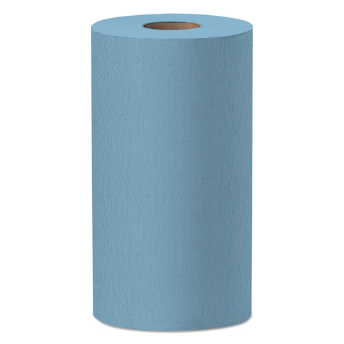 X60 Cloths, Small Roll, 9 4/5 x 13 2/5, Blue, 130/Roll | by Plexsupply