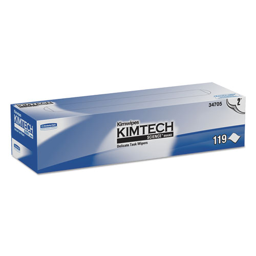 Kimwipes Delicate Task Wipers, 2-Ply, 11 4/5 x 11 4/5, 119/Box, 15 Boxes/Carton