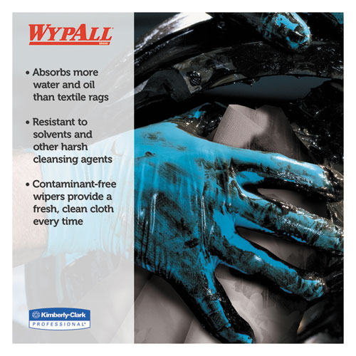NEW WypAll 41041 X80 Wipers BRAG Box HYDROKNIT Blue 12 1 2 x 16 4 5 160 Per