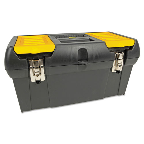 Series 2000 Toolbox w/Tray, Two Lid Compartments | by Plexsupply