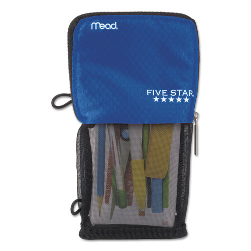 Stand N Store Pencil Pouch, 4 1/2 x 8, Cobalt