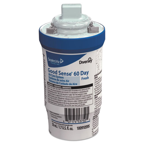 Diversey™ Good Sense 60-Day Air Care System, Fresh Scent, 1.7 oz, 6/Carton